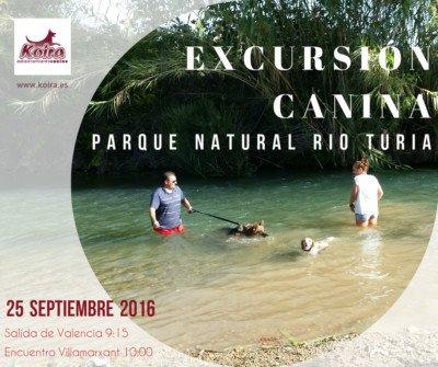 Excursión Canina Valencia Villamarxant Rio Turia