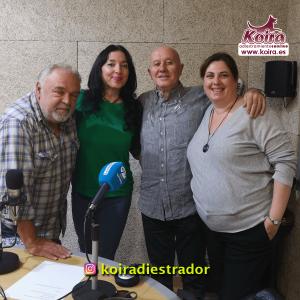 20181124 foto con Ata Gomis Ramiro Segrelles SOS Sagunto y KOIRA Adiestramiento Canino en el programa de Mis Queridos Animales 97.7
