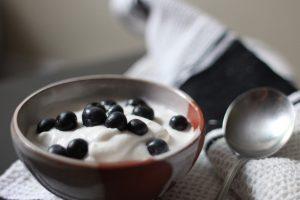 Helado para perros con yogur y frutas