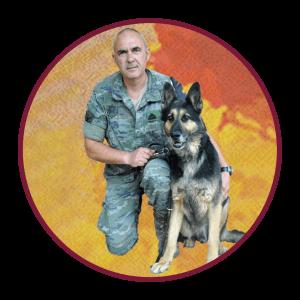 Foto Jose Antonio de la Varga Instructor perros de Seguridad y Detectores de sustancias y explosivos con marco 1080x1080